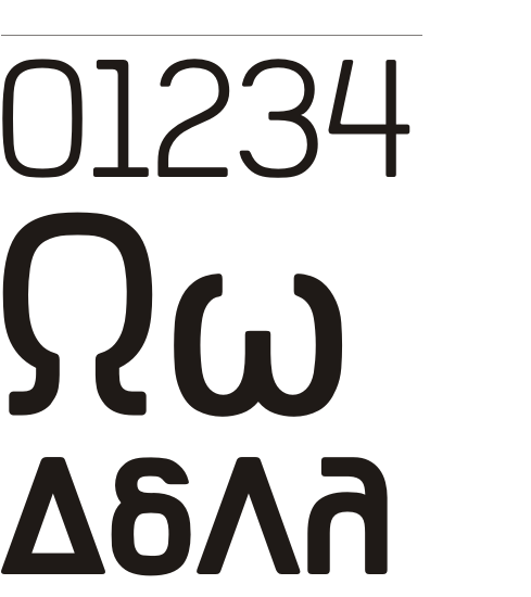 Typeface exclusively designed for the ALPHA TV